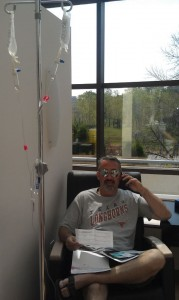 Paul getting chemo